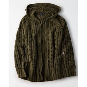 AE Knitted Open Front Cardigon